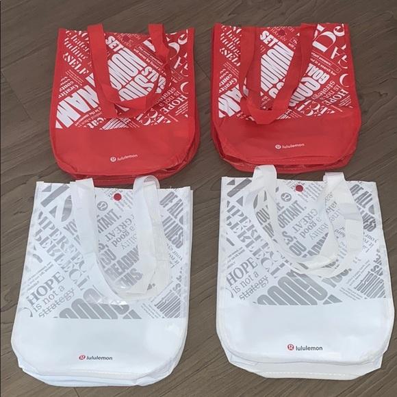 lululemon athletica Handbags - LULULEMON REUSABLE PLASTIC BAGS